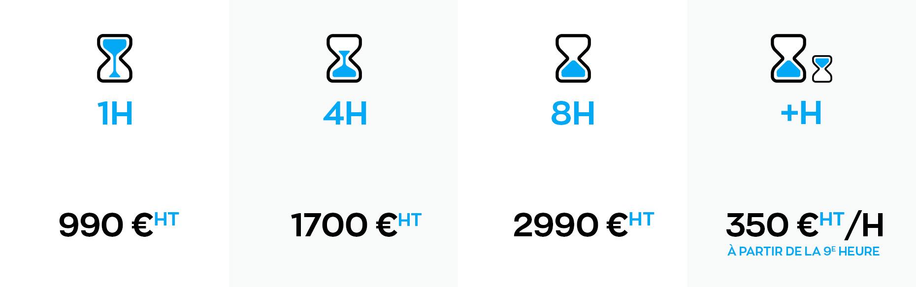 Tableau tarifs plateau